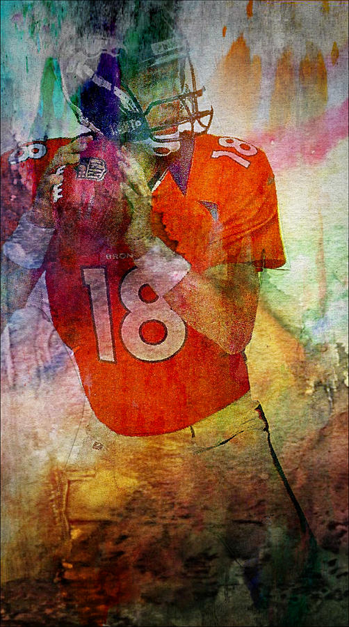 Peyton Manning Mixed Media