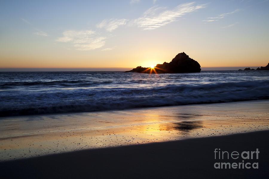 Pfeiffer Beach Sunset Photograph  - Pfeiffer Beach Sunset Fine Art Print