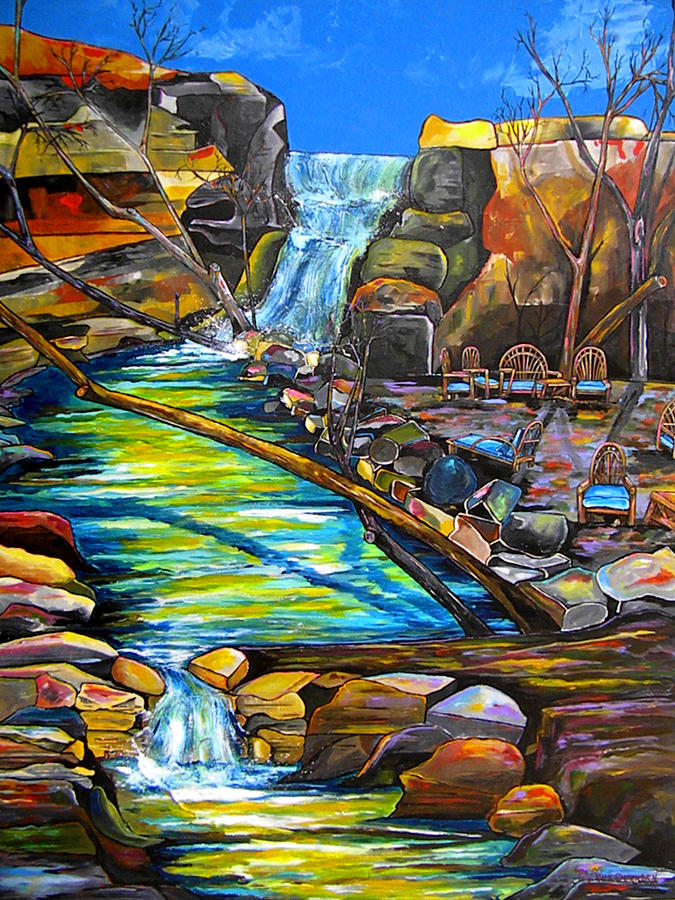 Waterfall Painting - Phantom Falls Ranch by Patti Schermerhorn