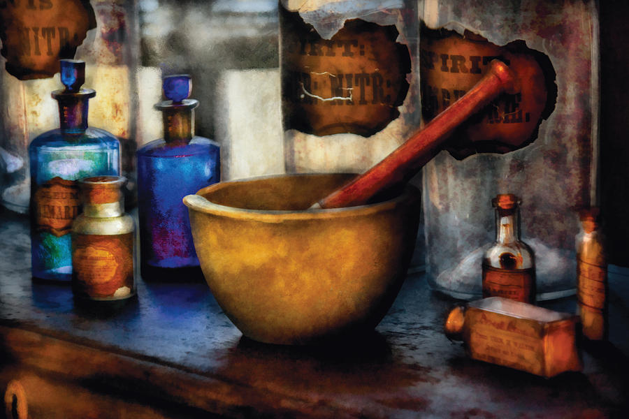 Pharmacist - Mortar And Pestle Photograph