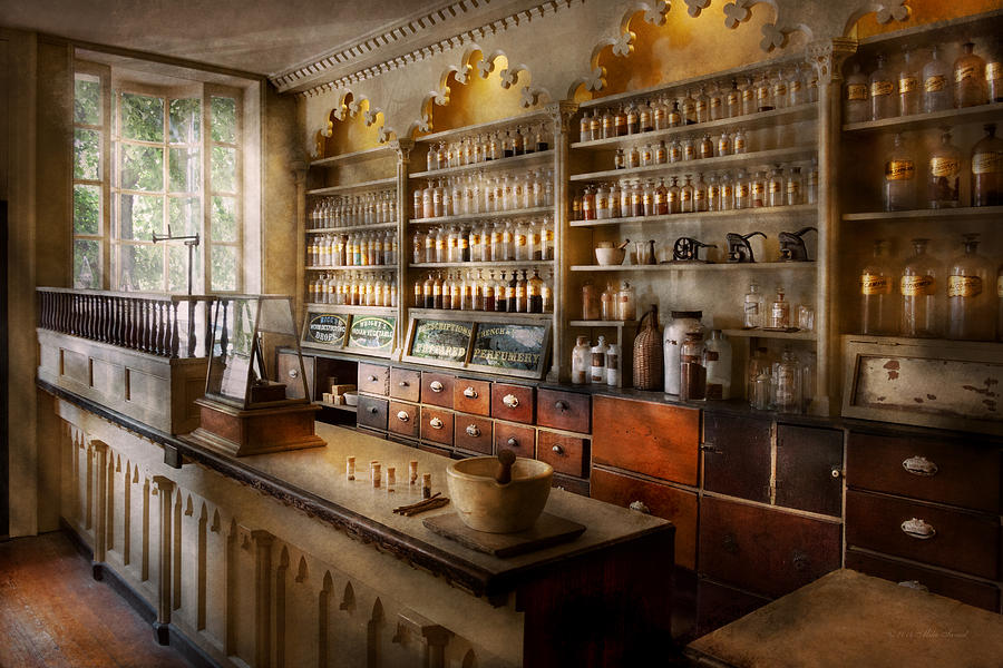 Pharmacist Photograph - Pharmacist - The Dispensatory by Mike Savad