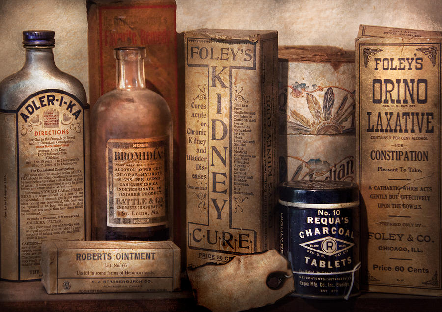 Pharmacy - Cures For The Bowels Photograph