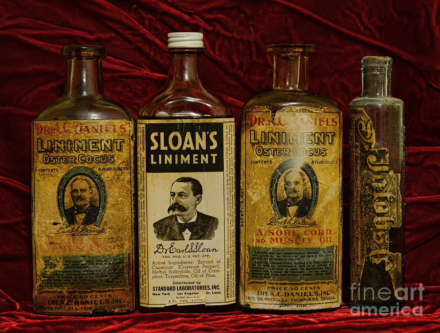 Pharmacy - Liniments For Sore Muscles Photograph  - Pharmacy - Liniments For Sore Muscles Fine Art Print