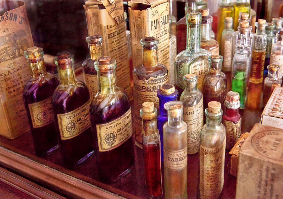 Hdr Photograph - Pharmacy - The Selection  by Mike Savad
