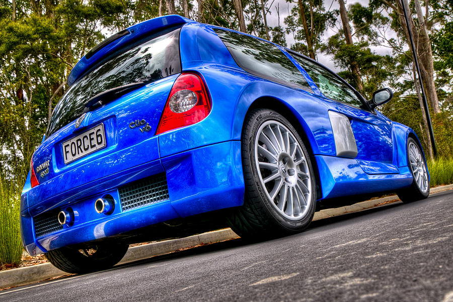 Renault Clio Photograph - Phase 2 Clio V6 by motography aka Phil Clark