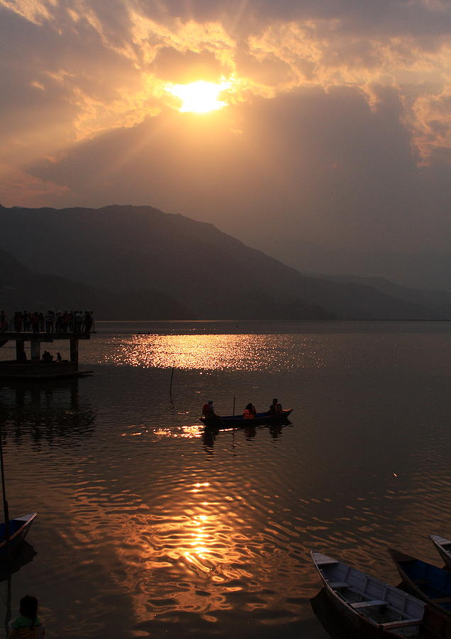 Phewa Lake Sunset - Nepal  Photograph