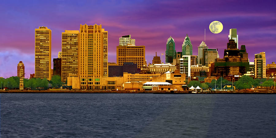 Philadelphia At Dusk Photograph