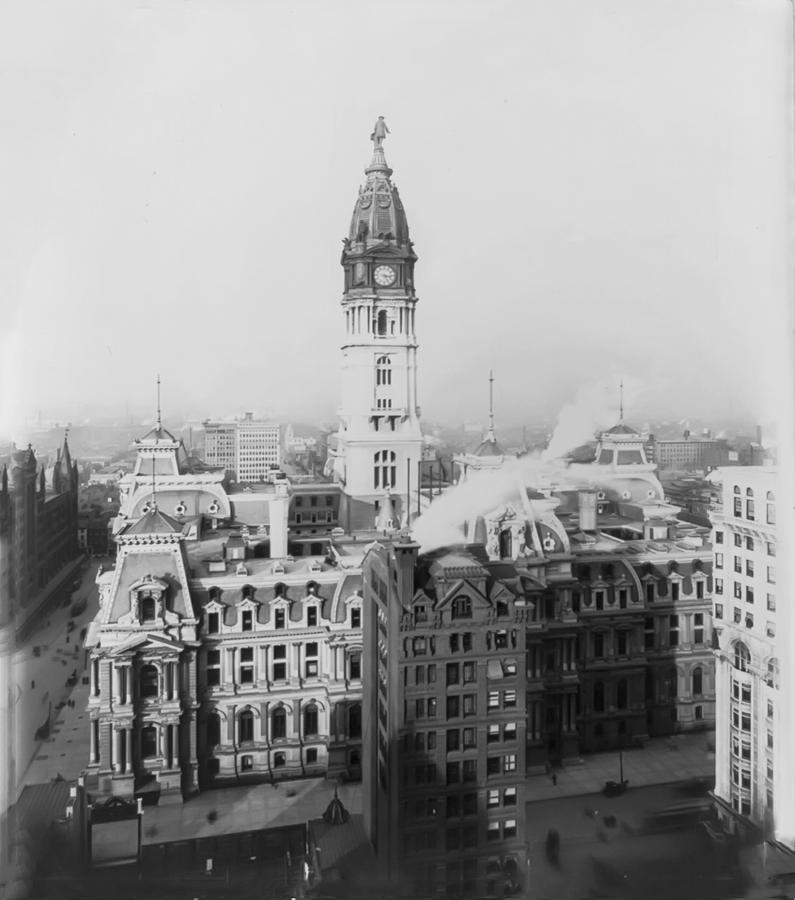 Philadelphia City Hall 1900 Photograph  - Philadelphia City Hall 1900 Fine Art Print
