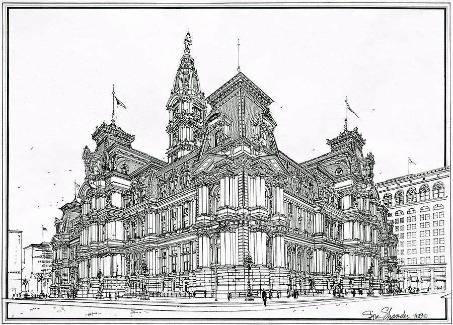 Philadelphia City Hall 1911 Drawing