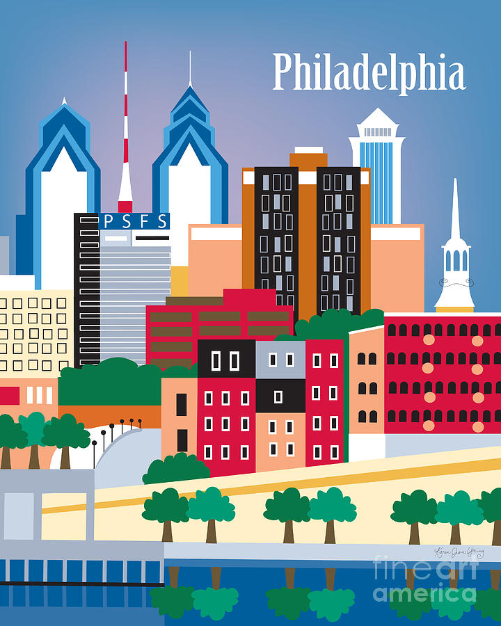 Philadelphia Digital Art  - Philadelphia Fine Art Print