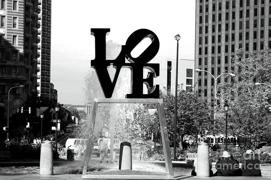 Philadelphia Love Bw Photograph