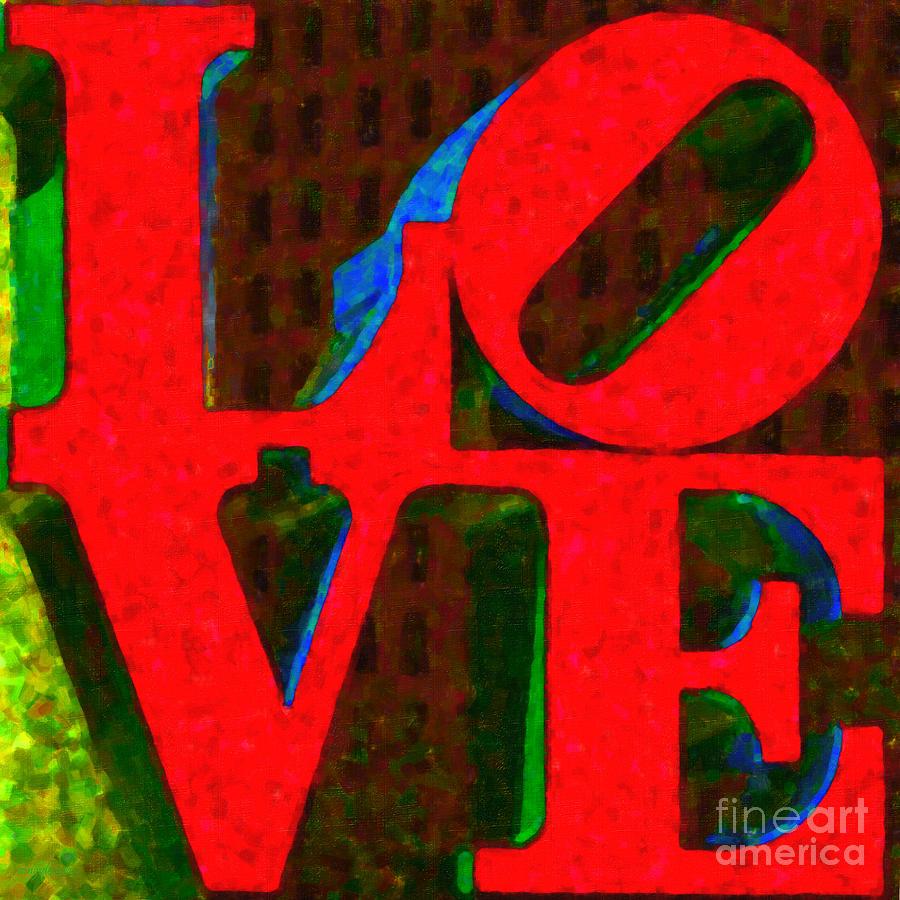Love Photograph - Philadelphia Love - Painterly V1 by Wingsdomain Art and Photography