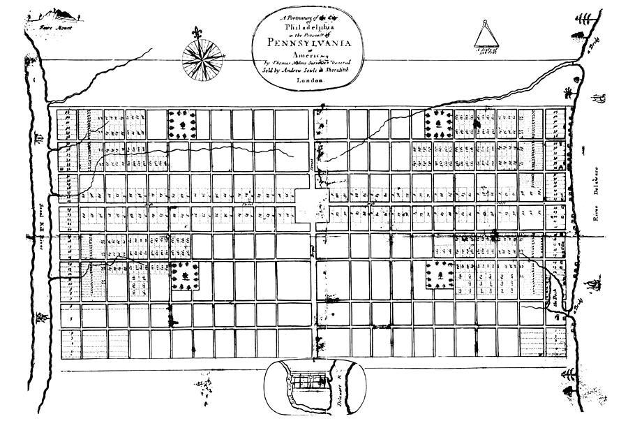 1683 Photograph - Philadelphia: Map, 1683 by Granger