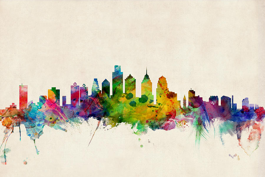 Acrylic kitchen cabinets miami - Los Angeles Skyline Silhouette Wall Decal Amcordesign Us
