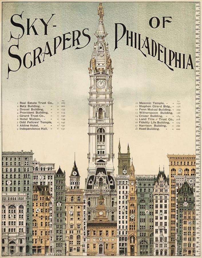 Philadelphia Skyscrapers Digital Art