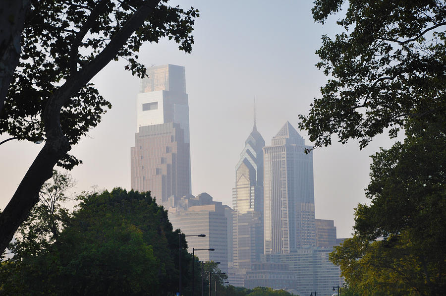 Philadelphias Skyscrapers Photograph
