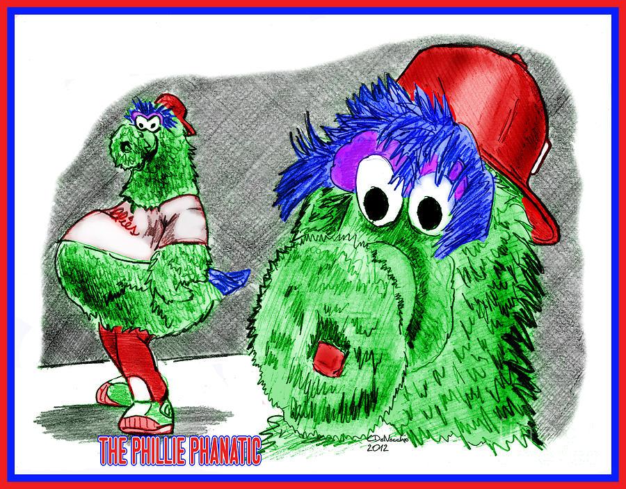 Baseball Drawing - Phillie Phanatic by Chris  DelVecchio