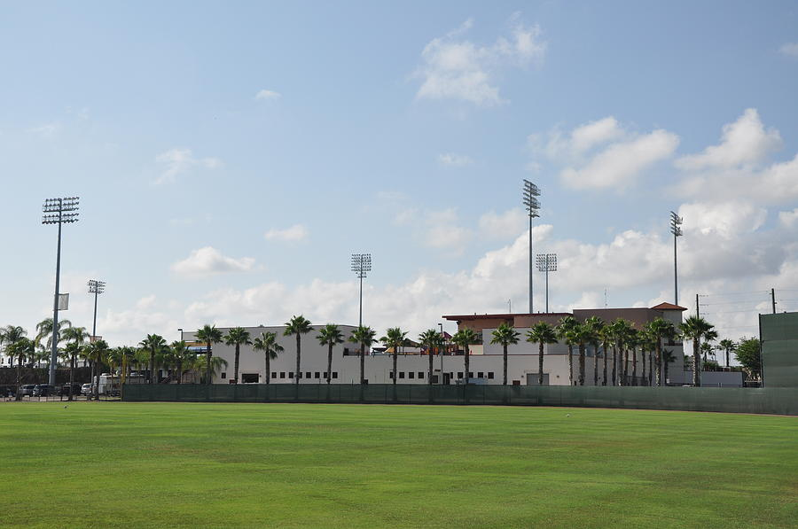 Phillies Photograph - Phillies Brighthouse Stadium Clearwater Florida by Bill Cannon