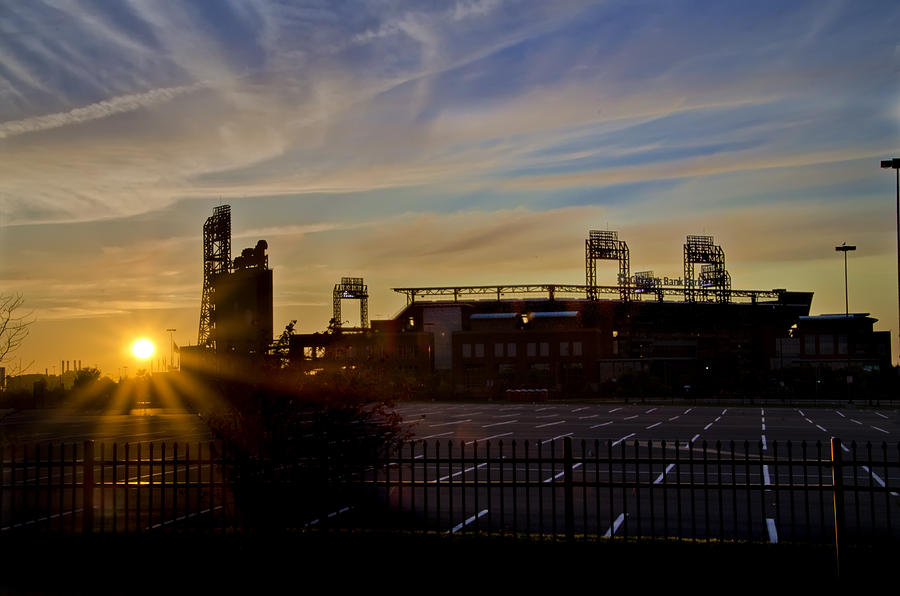 Phillies Citizens Bank Park At Dawn Photograph  - Phillies Citizens Bank Park At Dawn Fine Art Print