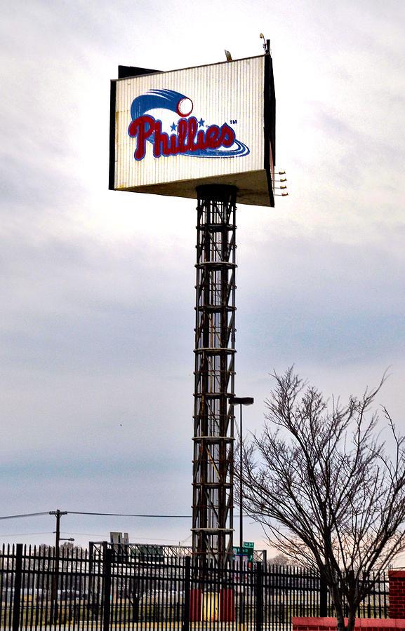 Phillies Stadium Sign Photograph