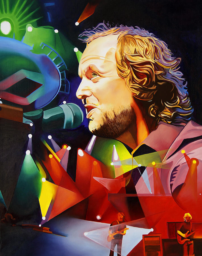 Phish Painting - Phish Full Band Mcconnell by Joshua Morton