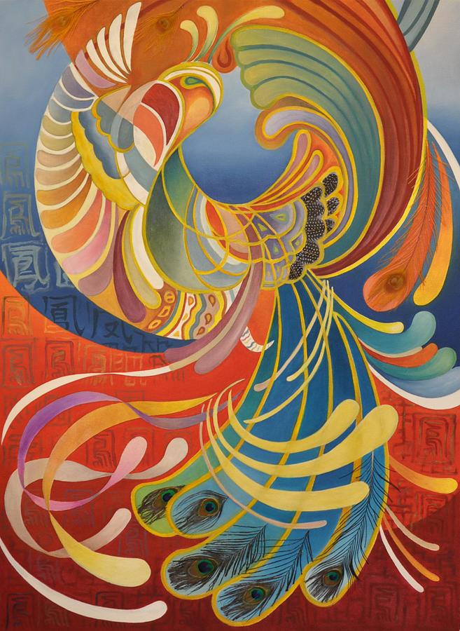 Nature  Painting - Phoenix by Ousama Lazkani