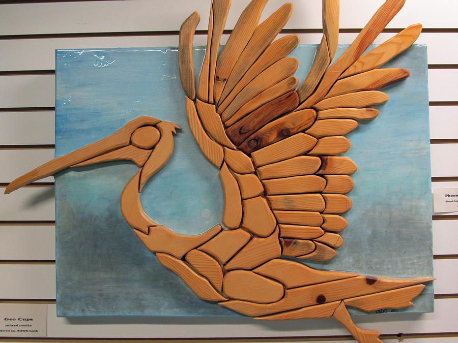 Bird Relief - Phoenix Pelican by Dedo Cristina