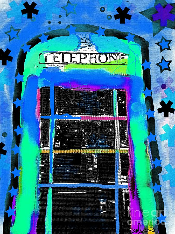 Phonebox Pop 3 Digital Art  - Phonebox Pop 3 Fine Art Print