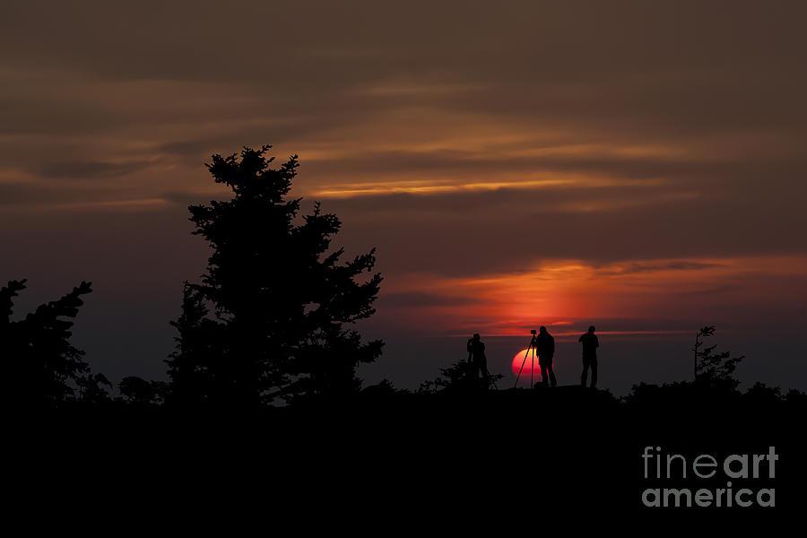 Photographers Shooting Sunrise At Bear Rocks Photograph