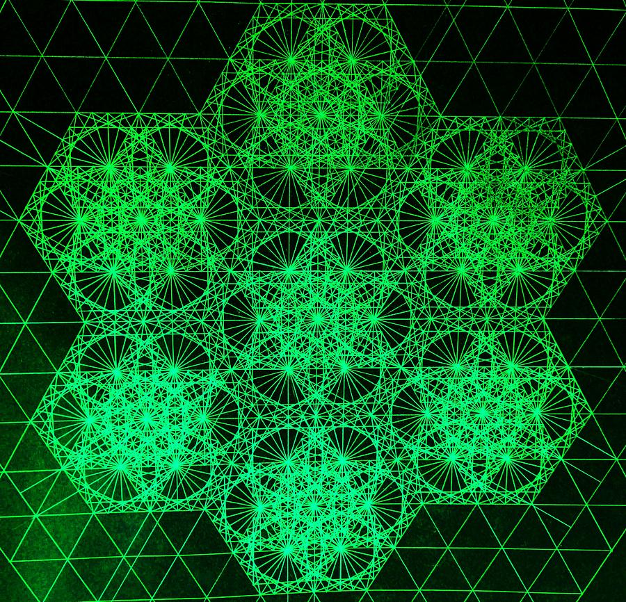 Photon Interference Fractal Drawing