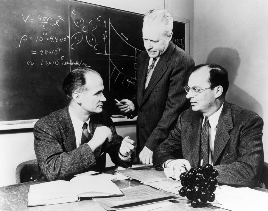 Physicists Brattain, Bardeen And Photograph
