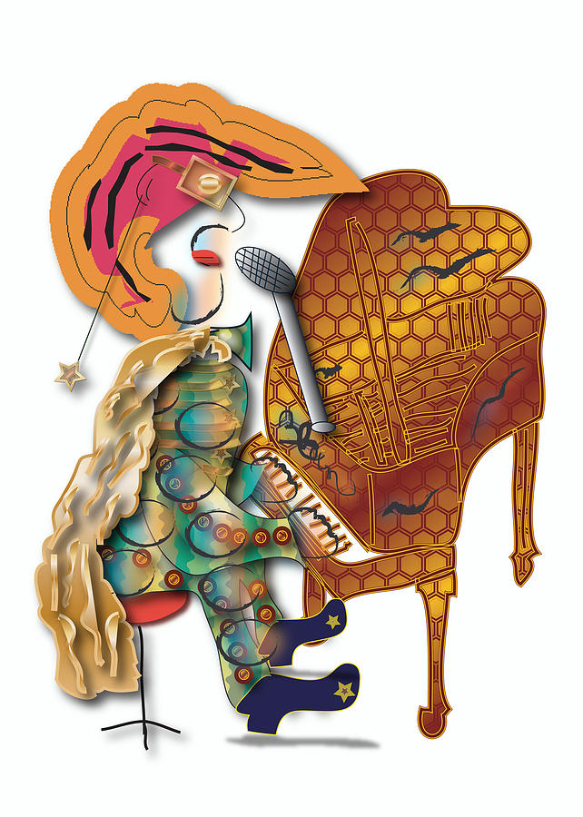 Piano Player Digital Art - Piano Man by Marvin Blaine