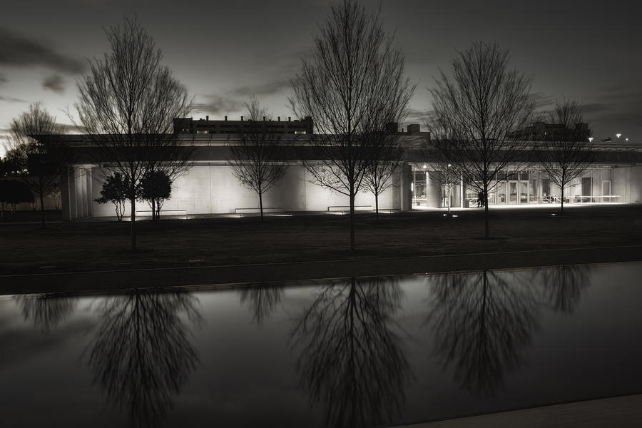 Piano Pavilion Bw Reflections Photograph