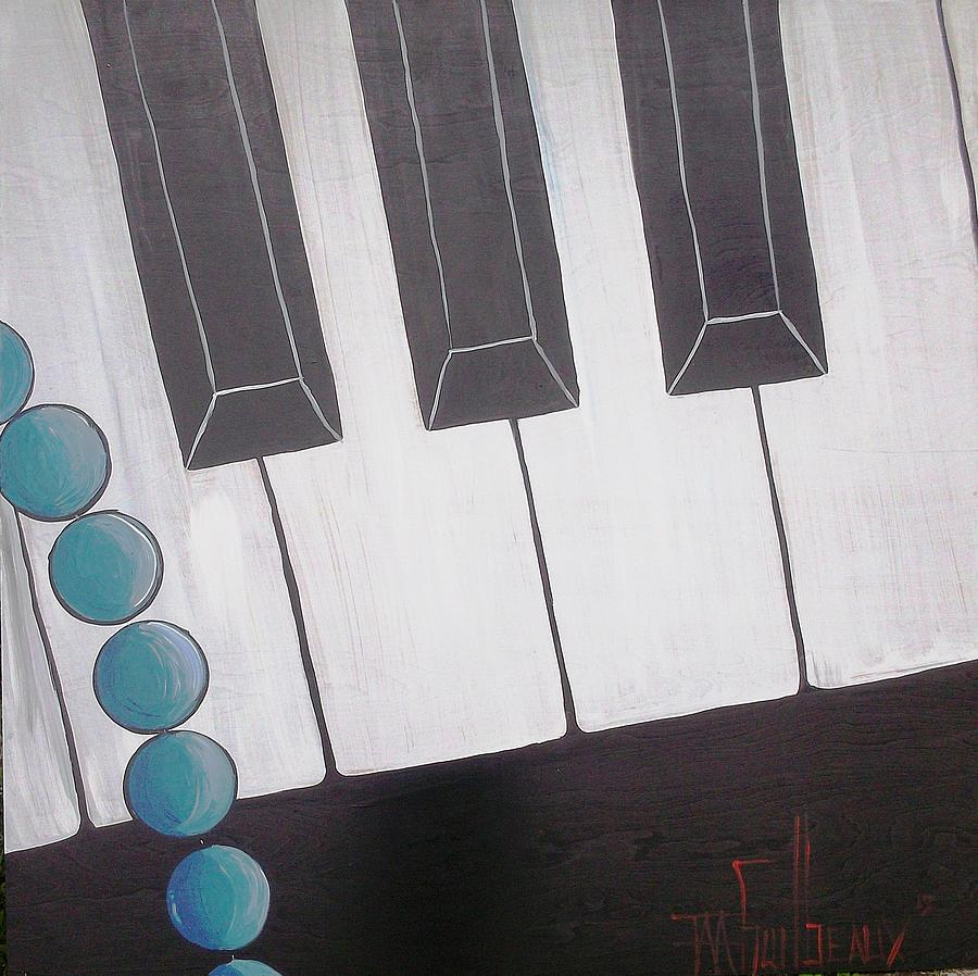 Piano Painting - Piano by Guilbeaux Gallery