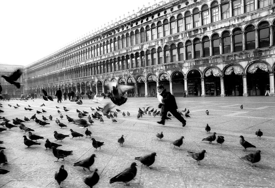 Piazza San Marco Venice Italy 1998 Photograph  - Piazza San Marco Venice Italy 1998 Fine Art Print