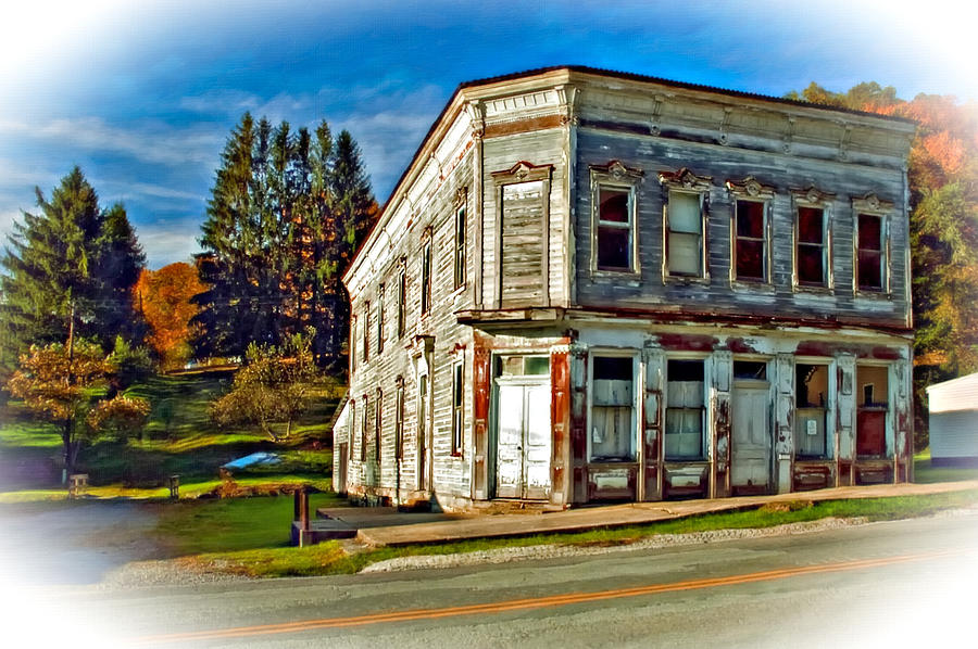Pickens Wv Painted Photograph  - Pickens Wv Painted Fine Art Print