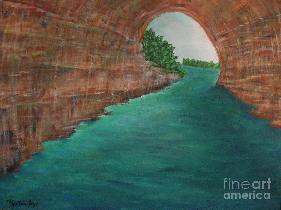 Pictured rocks mi painting by myrtle joy for Landscaping rocks myrtle beach