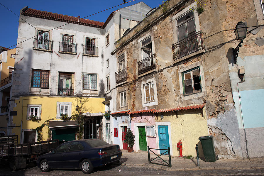 Picturesque Houses In Lisbon Photograph