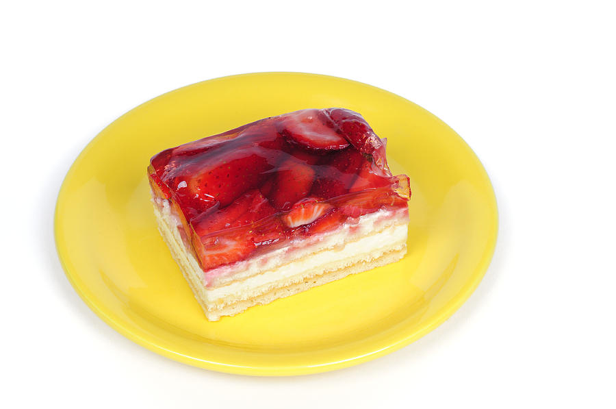 Piece Of Strawberry Cake Photograph