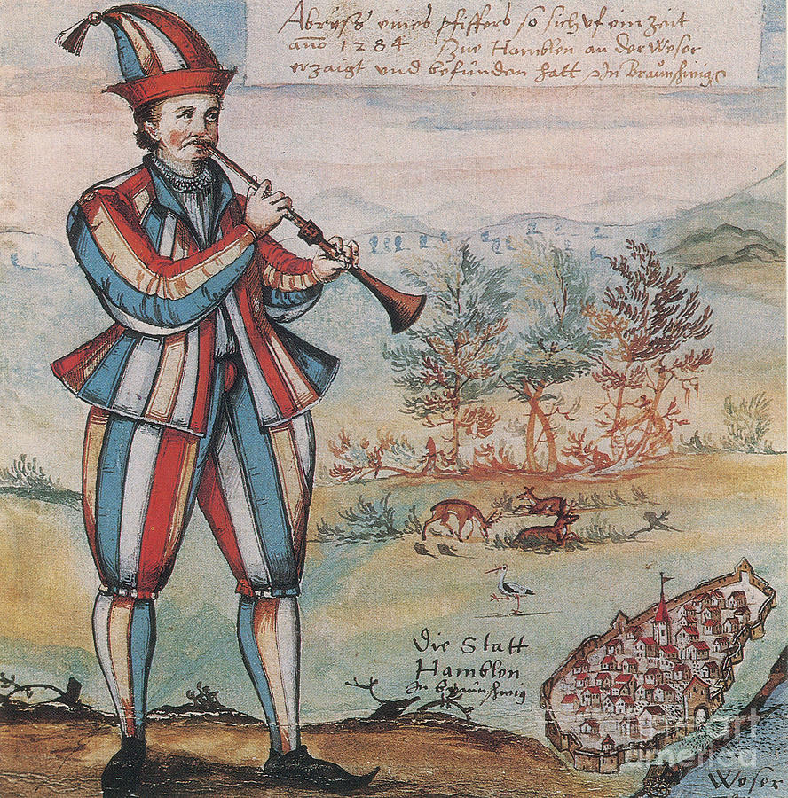 Pied Piper Of Hamelin, German Legend Photograph