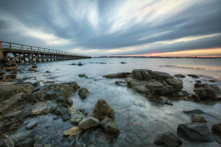 Pier At Dusk Photograph