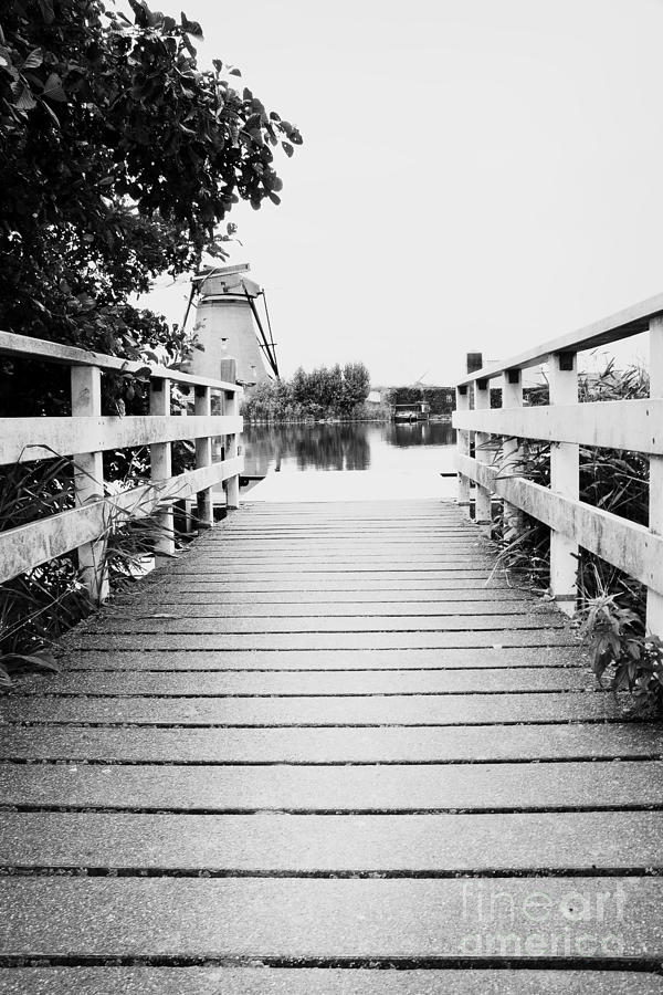 Pier At Kinderdjik Photograph  - Pier At Kinderdjik Fine Art Print