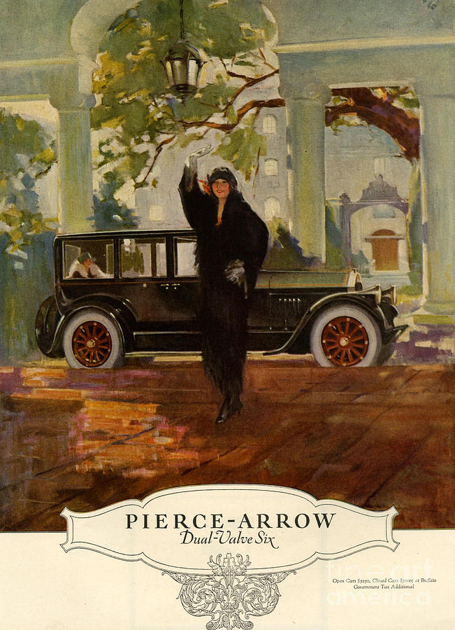 Pierce-arrow  1920s Usa Cc Cars Pierce Drawing  - Pierce-arrow  1920s Usa Cc Cars Pierce Fine Art Print