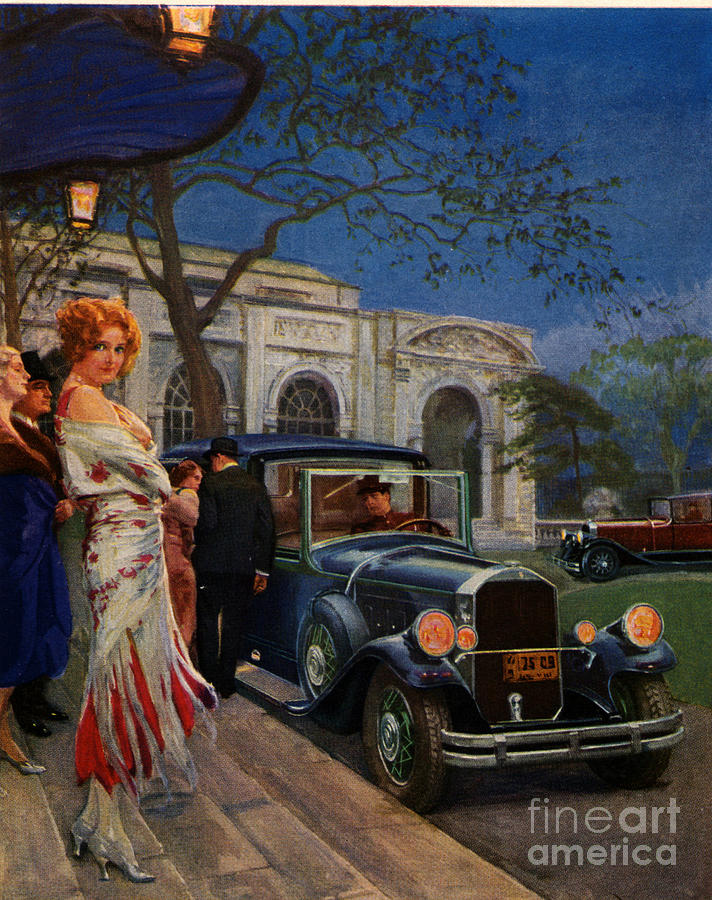 Pierce Arrow  1920s Usa Cc Cars Womens Drawing