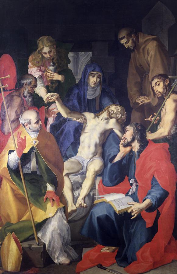 Piet? With Saints Pier Grisologo Painting