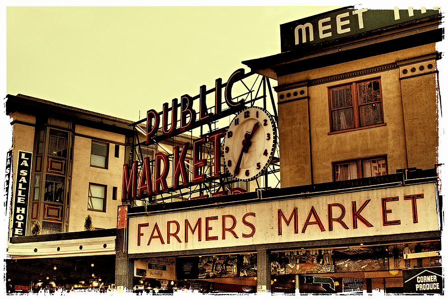 Pike Place Market - Seattle Washington Photograph  - Pike Place Market - Seattle Washington Fine Art Print