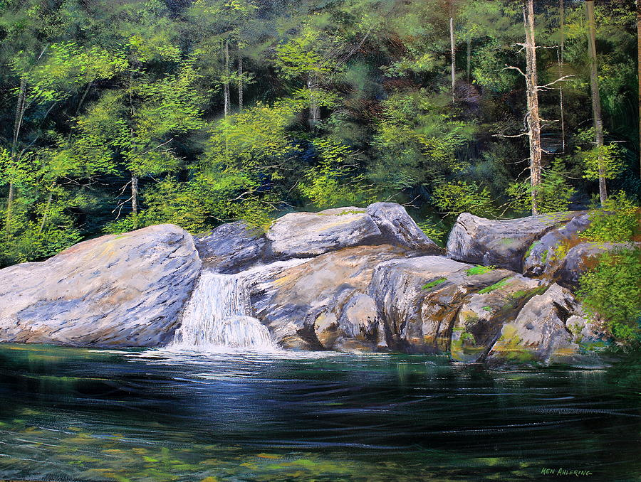 Pikes Falls Painting - Pikes Falls by Ken Ahlering
