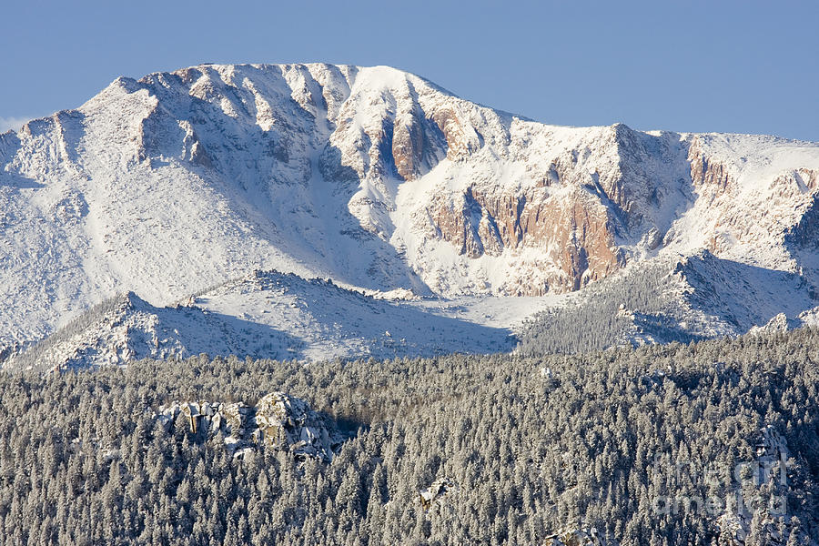 Pikes Peak Snow Photograph