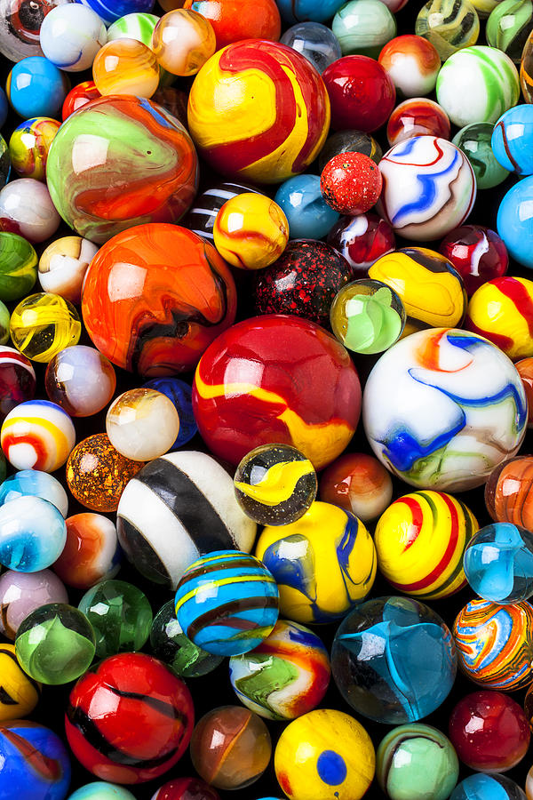 Pile Of Marbles Photograph