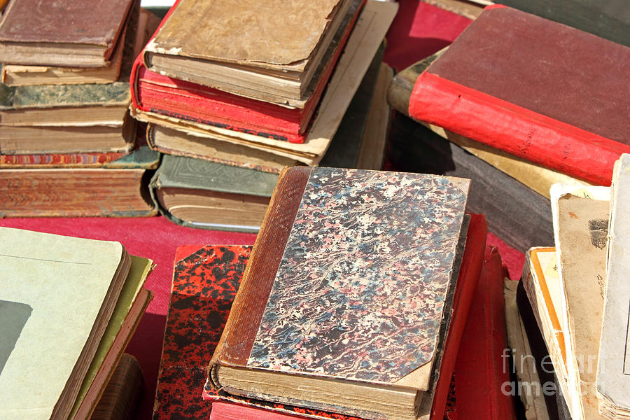 Piles Of Old Books Photograph